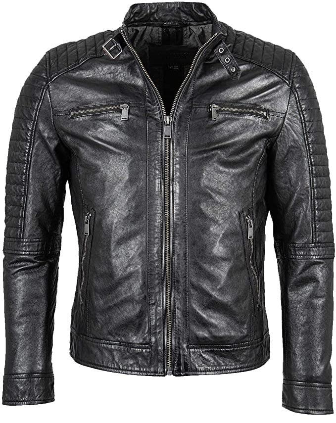 schwarze Lederjacke für Herren