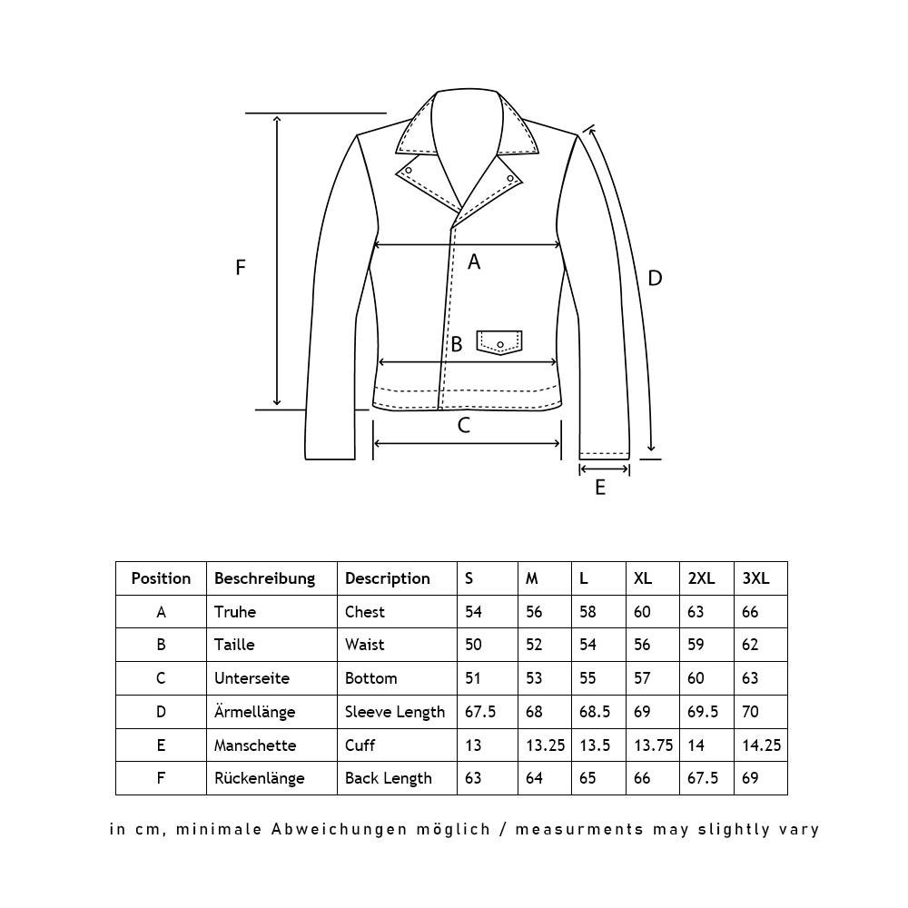 Cruz_leather_jacket size