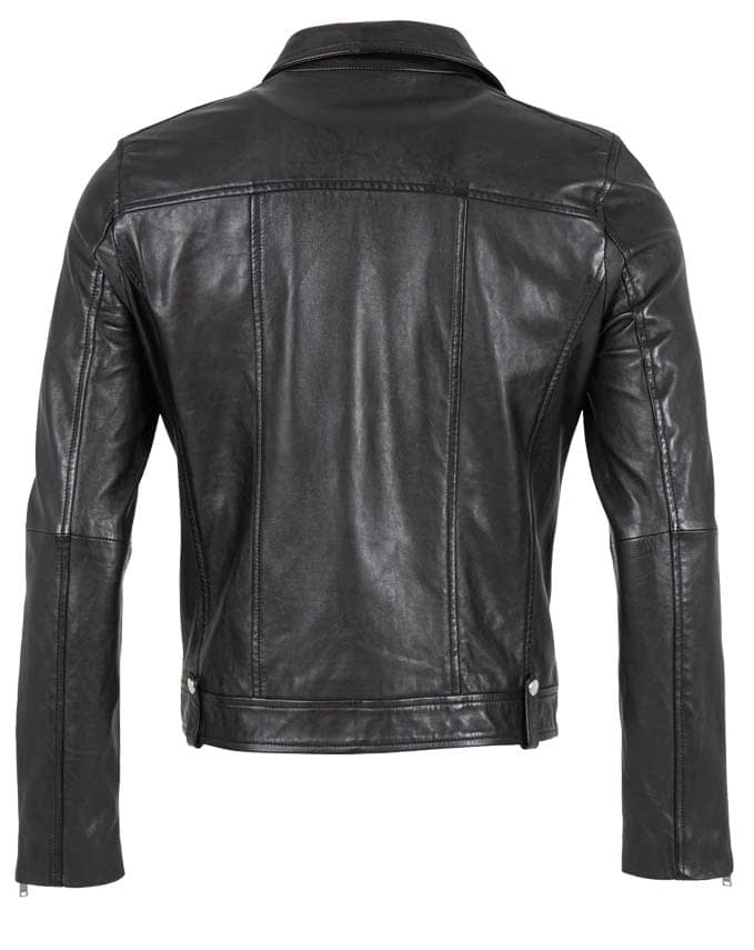 Authentische Biker-Lederjacke