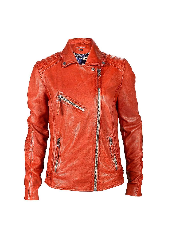 Rote Bikerjacke für Damen