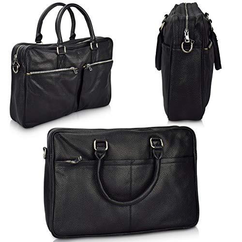 Büffelleder schwarzer Taschen